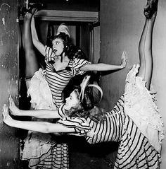 Folies Bergère, 1950's. Photo by Jacques Rouchon