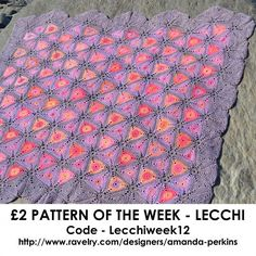 Good morning world  Are you ready for this week's Pattern of the Week? Well here it is... It's my Lecchi blanket and you can find it here... http://www.ravelry.com/patterns/library/lecchi-crochet-blanket #grannysquare #amandaperkins #crochetblanket #crocheted #crochet #crochetersofinstagram