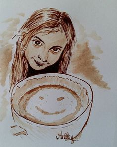 """Das Ergebnis...  """"freu""""... Hat gar nicht so lange gedauert.  ☆ MY FIRST COFFEE-ATTEMPT ☆  #kaffeepinsel #coffee #coffeepainting #coffeepaint #kaffeeliebe #coffeecolor #artpaint #artpainting #painting #draw #drawing #drawings #firsttime #selftaught"""