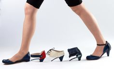 ze o ze  Modular shoe , with different heels, every heel gives the shoe a different look.