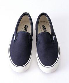 UNITED ARROWS × VANS UASP SLIPON NAVY #sneaker