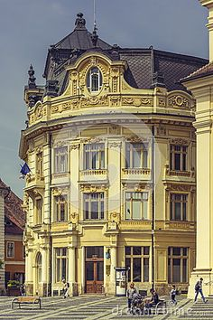 The Great Square And The City Hall, Sibiu, Romania - Download From Over 32 Million High Quality Stock Photos, Images, Vectors. Sign up for FREE today. Image: 54038385