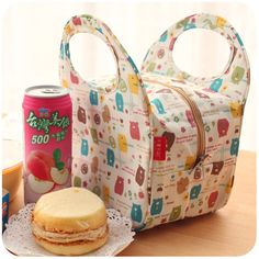 Silent love ♥ Moe Moe zoo Korean waterproof insulation lunch bag (I *think* this is something for sale, but I love the idea!)