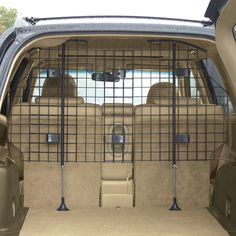 Guardian Gear® Heavy Duty Pet Vehicle Barrier is sure to keep pets securely contained during car trips.