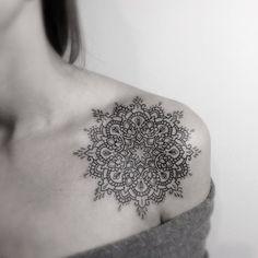 front shoulder mandala tattoo - Google Search