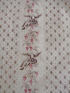 Antique 1800s Fabric 20 Pieces Bucks County PA, 1830s-1860s | eBay seller gb-best. Birds and nests (eagles?)