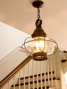 boat-style lantern light - great fixture for a sea cottage!