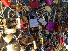 Love Lock Bridge. Paris, France.