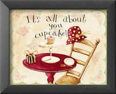 Resultado de imagen para cupcake dibujo vintage
