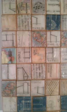 Encaustic Collage | Encaustic collage teeny tile mosaic | Flickr - Photo Sharing!