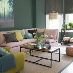 Living Room Trends parts can add a contact of favor and design to any residence. Living Room Trends can mean many issues to many individuals, but all of them… Living Room Green, Paint Colors For Living Room, Living Room Interior, Home Living Room, Living Room Designs, Living Room Decor Teal, Blush Pink Living Room, Living Spaces, Home Decor Trends 2018