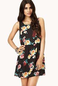 Bkack floral dress