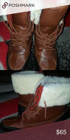 Brown polo boots men Men brown polo boots Polo by Ralph Lauren Shoes Boots
