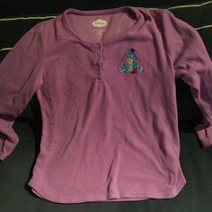 Size xl purple Disney brand shirt Good condition.  Picture of Eeyore Disney Tops