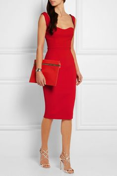 Crimson smooth and textured-leather (Calf) Zip fastening along front Comes with dust bag