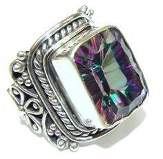 Buy Rainbow Mystic Quartz Silver Ring - Best Price Wholesaler