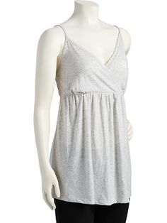 Maternity Lace-Trim Nursing Cami Product Image