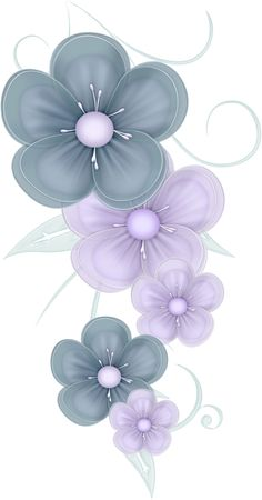 flowers png | Blue Flowers PNG by PVS by ~pixievamp-stock on deviantART
