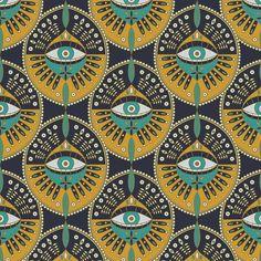 Tribal Evil Eye Pattern