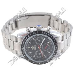 This is about Auto Mechanical Wrist Watch Railroad Wristwatch with Alloy Strap for Man Male Boy - Silver with Black Dial . Low Price Watches, Casio Watch, Omega Watch, Boys, Men, Accessories, Black, Baby Boys, Black People