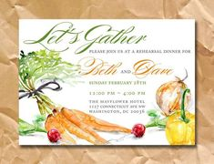 invitation to a farm to table party - Google Search
