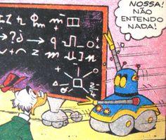 Robô esperto, ilustração de Walt Disney.