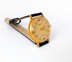 Vintage Women's Watch Gold Plated Unisex  Watch Zarja men's, women's wristwatch