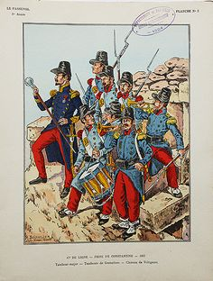 French; Line Infantry at the Seige of Constantine 1837 by Henri Boisselier