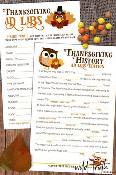 Thanksgiving Mad Libs Dinner Table Game School Party Game | Etsy Thanksgiving Mad Lib, Thanksgiving History, Thanksgiving Appetizers, Thanksgiving Recipes, Hosting Thanksgiving, Thanksgiving Activities, Thanksgiving Parties, Outdoor Thanksgiving, Free Thanksgiving Printables