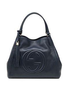#GUCCI Soho Leather Shoulder Bag