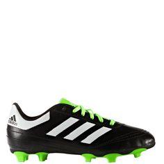 release date 6f83a 53da8 adidas Goletto VI FG J BlackWhiteSolar Green Kids Soccer Cleats - model