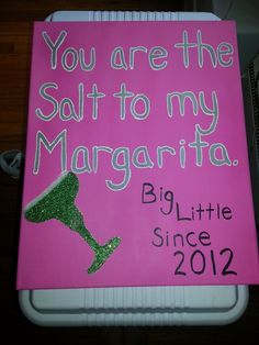Canvas for Big/Little reveal. TSM.