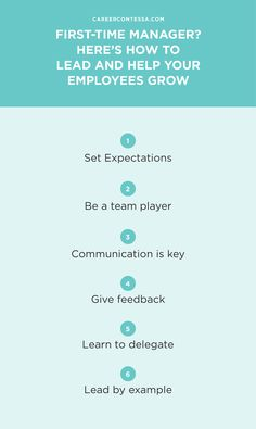 Are you a first-time manager? Here's how to effectively manage and grow the careers of your team. Being a good manager is far different from being a good employee, because you are no longer responsible for only yourself. You are responsible for other people—for their career progress, their learning, and their success.