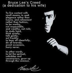 Bruce Lee. Speak the truth.