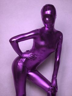 Purple Unicolor Unisex Shiny Metallic Zentai Suit,full body suit is made of shiny metallic which perfectly shows your body curve.We can provide the customization service, and you may also provide us with your detailed size requirements for customizin Purple Love, Purple Hues, All Things Purple, Shades Of Purple, Deep Purple, Red And Blue, Zentai Suit, Full Body Suit, Purple Reign