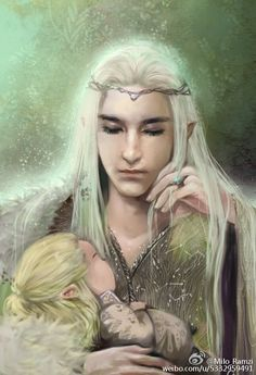 "yourlaranikaisakova: "" Thranduil & Legolas by Milo Ramzi "" woah! Beautiful!"