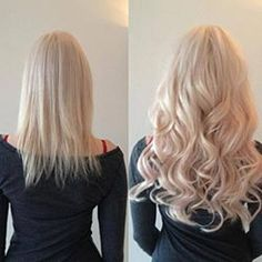 Chic & Trendy Extensions client with pictures of before and after her tape in extensions installation #613. www.chicandtrendy.ca