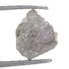 0.68 ct Carat Fancy Silver GRay Natural  Rough Diamond Gem