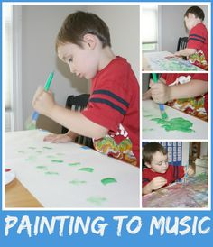 Preschool painting To Music