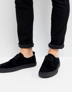Fred Perry Linden Suede Shoes In Black