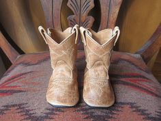 Baby Cowboy Boots by Podsshoes: Made of leather to order.