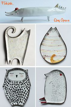 Fishinkblog 9219 Clay Opera 2 Check out my instagram.com/... my blog ramblings and arty chat here www.fishinkblog.w... and my stationery here www.fishink.co.uk , illustration here www.fishink.etsy.com and here carbonmade.com/.... Happy Pinning ! :) #Cerámica