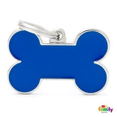Show details for Big Bone Blue Pet ID Tag Free engraving www.myfamily.it