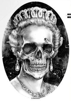 Skull Queen drawing and more skull inspirations at skullspiration.com