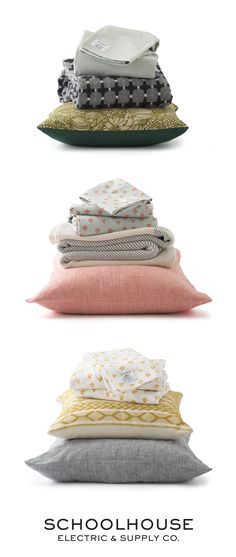 Heirloom quality, effortless mix + match bedding, throws and pillows Dream Bedroom, Home Bedroom, Bedroom Decor, Master Bedroom, Kids Castle, Schoolhouse Electric, Hanging Beds, Dreams Beds, Home Comforts