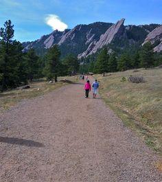 Hiking through Chautauqua Park in Boulder, CO