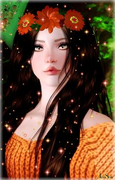 Flower headband by Jennisims - Sims 3 Downloads CC Caboodle