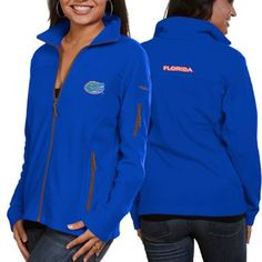 Columbia Florida Gators Ladies Give And Go Fleece Full Zip Jacket - Royal Blue