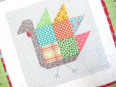 Tom Turkey quilt block Tutorial!!! ...