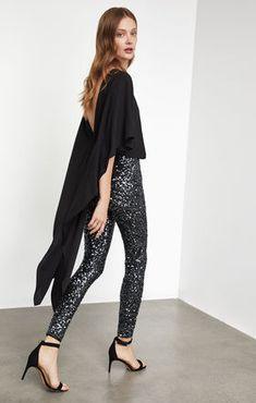 adc9b4a4e034 Sequin High-Low Jumpsuit - Black